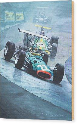 1968 German Gp Nurburgring  Wood Print by Yuriy Shevchuk