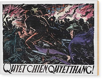 Wood Print featuring the painting 1968 North Vietnamese Propaganda by Historic Image