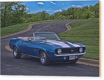 1969 Camaro Ss Convertible Wood Print by Tim McCullough