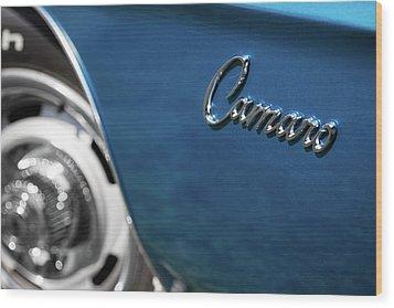 1969 Chevrolet Camaro Z28 Emblem Wood Print
