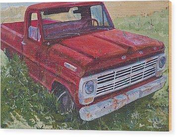 1969 F100 Wood Print by Les Katt