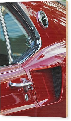 1969 Ford Mustang Mach 1 Side Scoop Wood Print