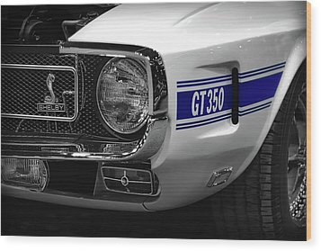 1969 Ford Mustang Shelby Gt350 1970 Wood Print