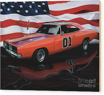 Wood Print featuring the photograph 1969 General Lee by Peter Piatt