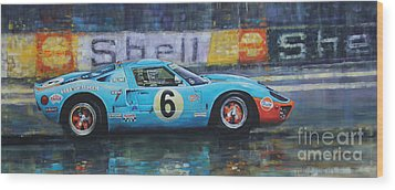 1969 Le Mans 24 Ford Gt40 Jacky Ickx Jackie Oliver Winner Wood Print by Yuriy Shevchuk