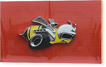 1970 Dodge Super Bee Emblem Wood Print by Paul Ward