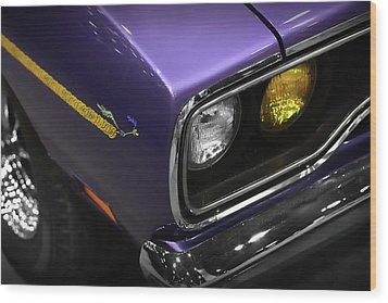 1970 Plum Crazy Purple Road Runner Wood Print by Gordon Dean II