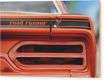 1970 Plymouth Road Runner - Vitamin C Orange Wood Print