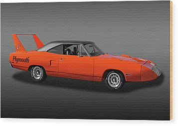 Wood Print featuring the photograph 1970 Plymouth Road Runner Superbird  -  1970plyrrsuperbirdfa170528 by Frank J Benz