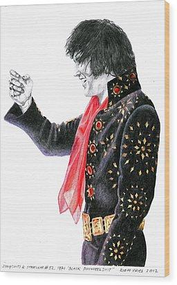 1971 Black Pinwheel Suit Wood Print by Rob De Vries
