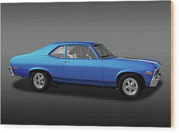 Wood Print featuring the photograph 1971 Chevrolet Nova Super Sport 350   -  1971chevroletnovassfa170507 by Frank J Benz