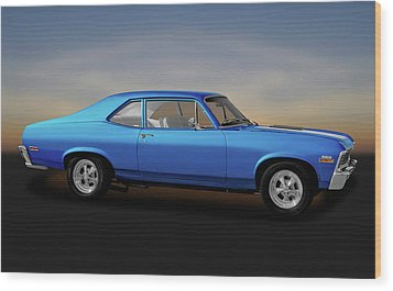 Wood Print featuring the photograph 1971 Chevrolet Nova Super Sport 350   -   1971chevynova350ss170507 by Frank J Benz