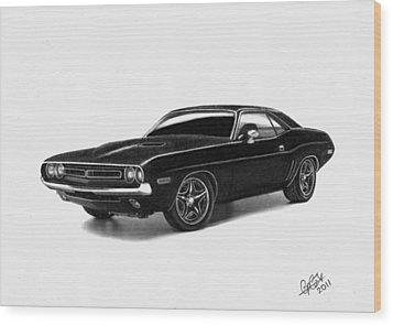 1971 Dodge Challenger Wood Print