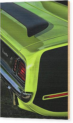 1971 Plymouth Hemicuda Hemi Cuda Barracuda Wood Print by Gordon Dean II