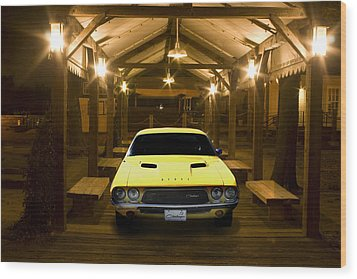 1972 Challenger Wood Print by Michael Cleere