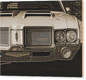 1972 Olds 442 - Sepia Wood Print by Gordon Dean II