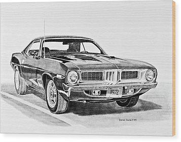 1972 Plymouth Barracuda Wood Print by Daniel Storm