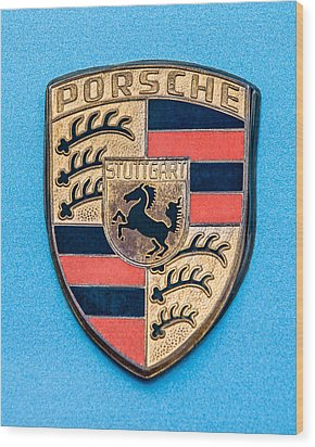 1972 Porsche 911s Emblem - 0584c45 Wood Print by Jill Reger