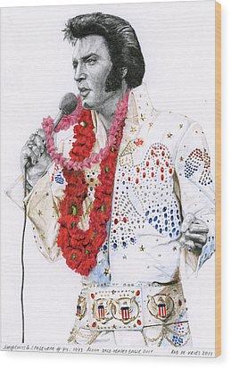 1973 Aloha Bald Headed Eagle Suit Wood Print by Rob De Vries