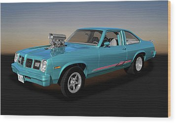 Wood Print featuring the photograph 1975 Pontiac Ventura  -  1975pontiacventura170502 by Frank J Benz