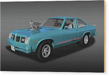 Wood Print featuring the photograph 1975 Pontiac Ventura  -  1975pontiacventurafa170502 by Frank J Benz