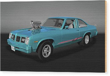 Wood Print featuring the photograph 1975 Pontiac Ventura  -  1975pontiacventuragry170502 by Frank J Benz