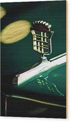 1976 Cadillac Fleetwood Hood Ornament Wood Print by Jill Reger