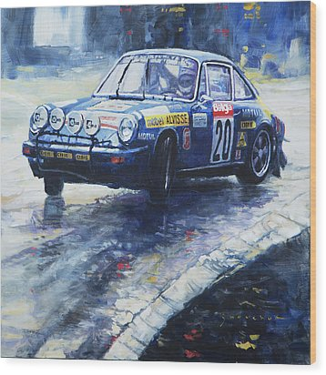 1980 Criterium Lucien Bianchi Porsche Carrera Keller Hoss #20 Wood Print by Yuriy Shevchuk