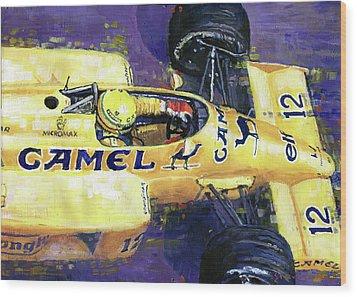 1987 Spa Francorchamps Lotus 99t Ayrton Senna Wood Print by Yuriy Shevchuk