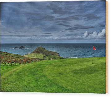 1st Green Cape Cornwall Golf Club Wood Print
