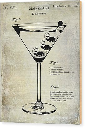1897 Dirty Martini Patent Wood Print