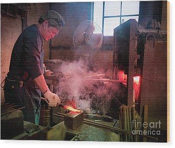 4th Generation Blacksmith, Miki City Japan Wood Print