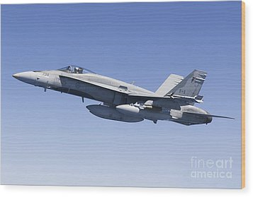 A Cf-188a Hornet Of The Royal Canadian Wood Print by Gert Kromhout
