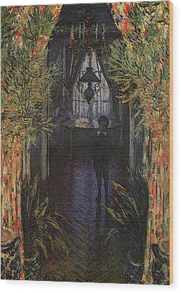 A Corner Of The Apartment Wood Print by Claude Monet