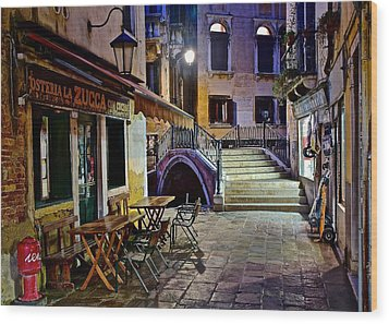 An Evening In Venice Wood Print