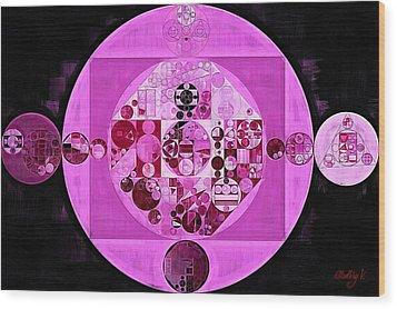 Wood Print featuring the digital art Abstract Painting - Lavender Magenta by Vitaliy Gladkiy
