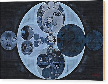 Wood Print featuring the digital art Abstract Painting - Polo Blue by Vitaliy Gladkiy