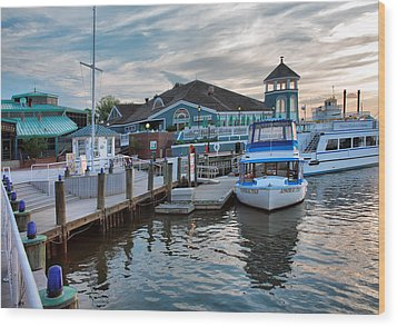 Alexandria Waterfront I Wood Print