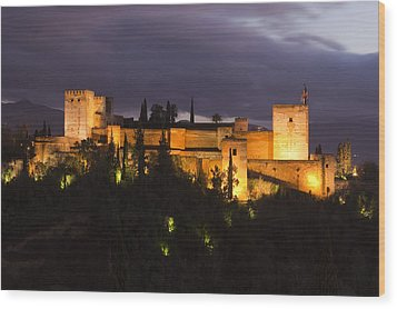 Alhambra Wood Print by Andre Goncalves