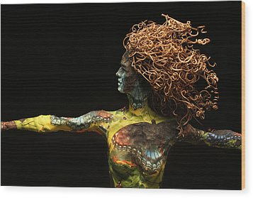 Alight A Sculpture By Adam Long Wood Print by Adam Long