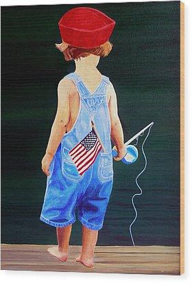 All American Boy Wood Print