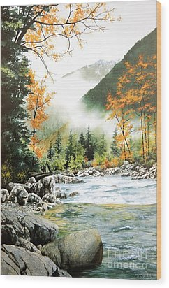 Alpine Tapestry Wood Print