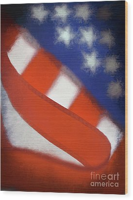 American Flag Wood Print by George Robinson