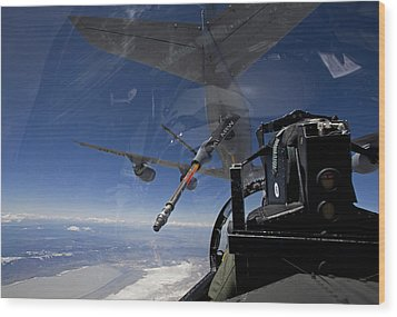 An F-15 Eagle Pulls Into Position Wood Print by HIGH-G Productions