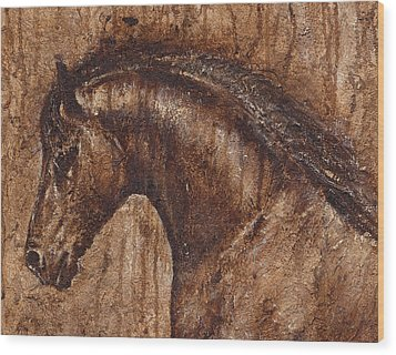 Ancient Glory Wood Print by Paula Collewijn -  The Art of Horses