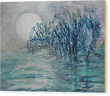 another  Moon river Wood Print by Mary Sonya  Conti