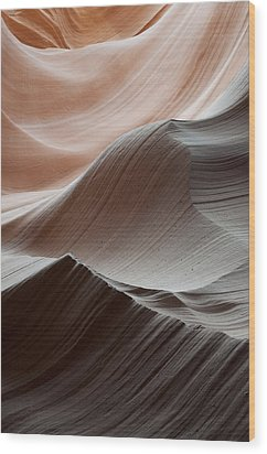 Antelope Canyon Desert Abstract Wood Print by Mike Irwin