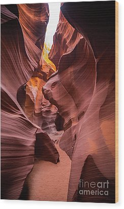 Antelope Canyon Wood Print by JR Photography
