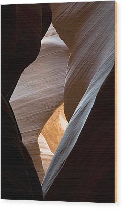 Antelope Canyon Wood Print by Mike Irwin