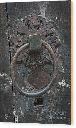 Wood Print featuring the photograph Antique Door Knocker by Elena Elisseeva